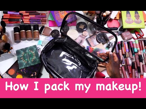 LETS PACK:)))) HOW I PACK MY MAKEUP TRAVEL BAG | Fumi Desalu-Vold thumbnail