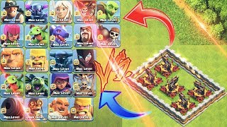 5×MAX X-BOW VS ALL MAX LVL 5×TROOPS 😵😰||COC LOVERS😘||WHO WILL WIN||CLASH OF CLANS||UNITY CLASH||