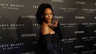 Rihanna at Fenty Beauty by Rihanna and Sephora party in Paris