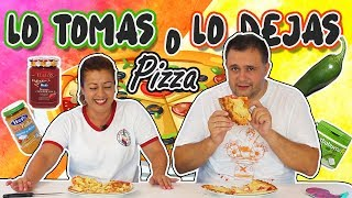 LO TOMAS o LO DEJAS PIZZA !! Take it or Leave it Pizza | Marta vs David  | TOMA YA !