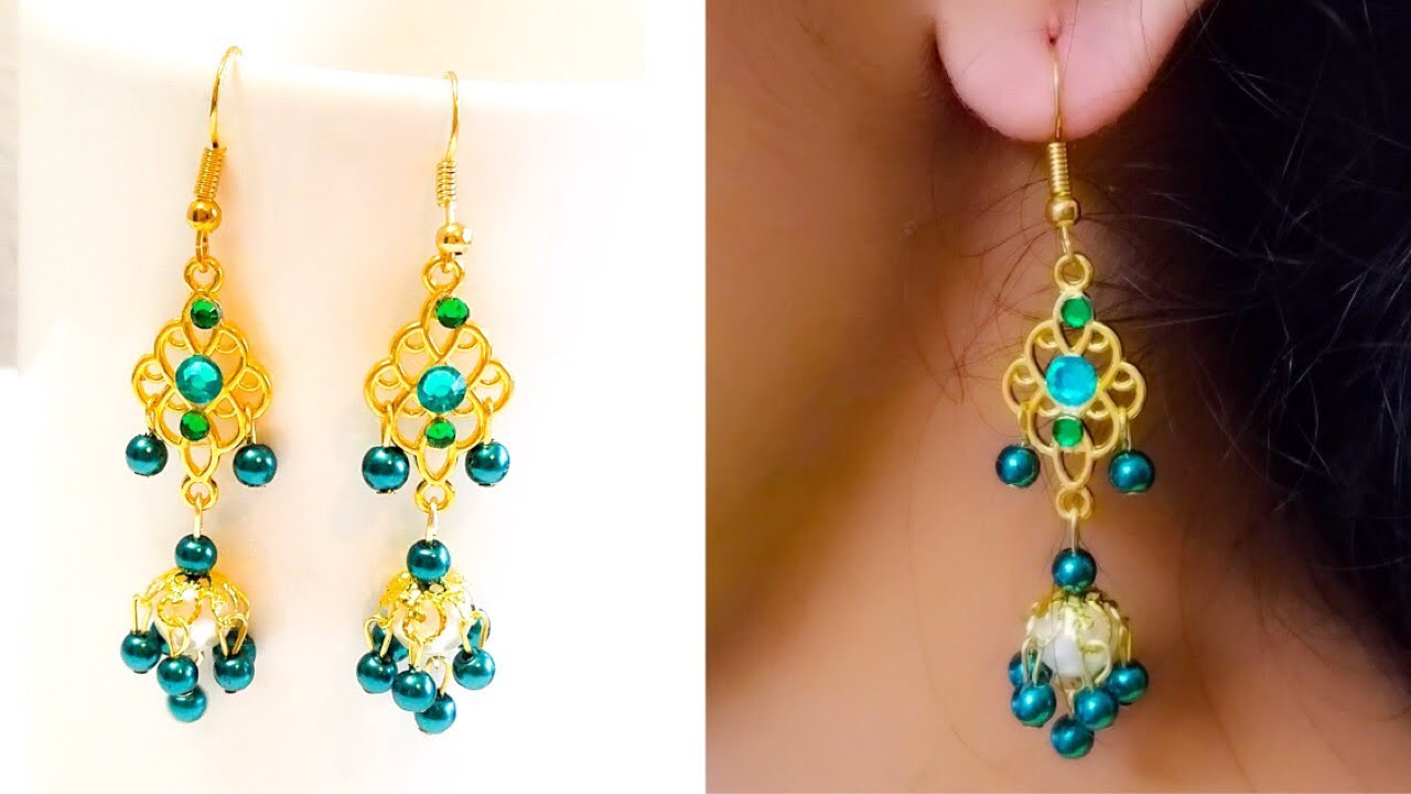 How To Make Pearl Designer Earrings Diy Chandelier Making
