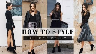How To Style: Holiday Party Outfits + Look Book