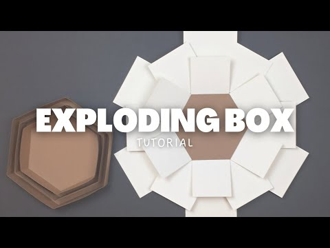 DIY Hexagon Explosion Box Tutorial | Valentine's Day Ideas