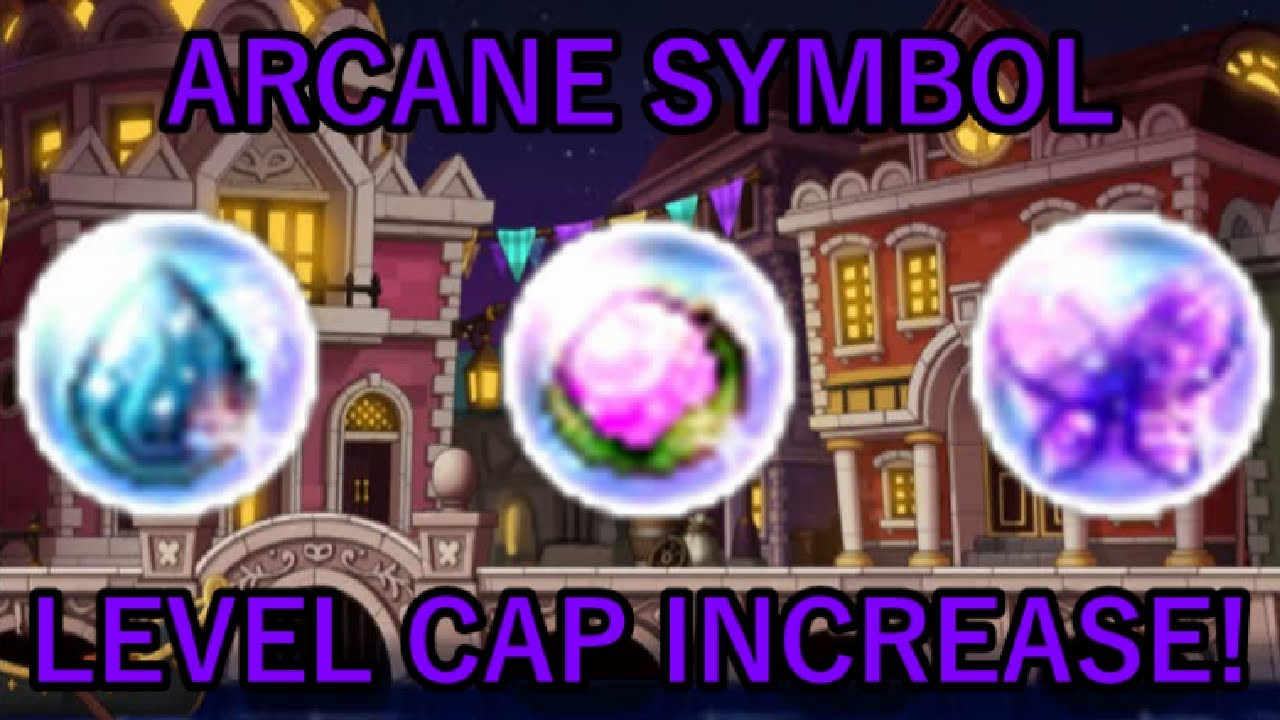 Maplestory Announcement Arcane Symbol Level Cap Increase Youtube