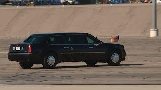 President Donald Trump arrives in Las Vegas following deadly mass shooting