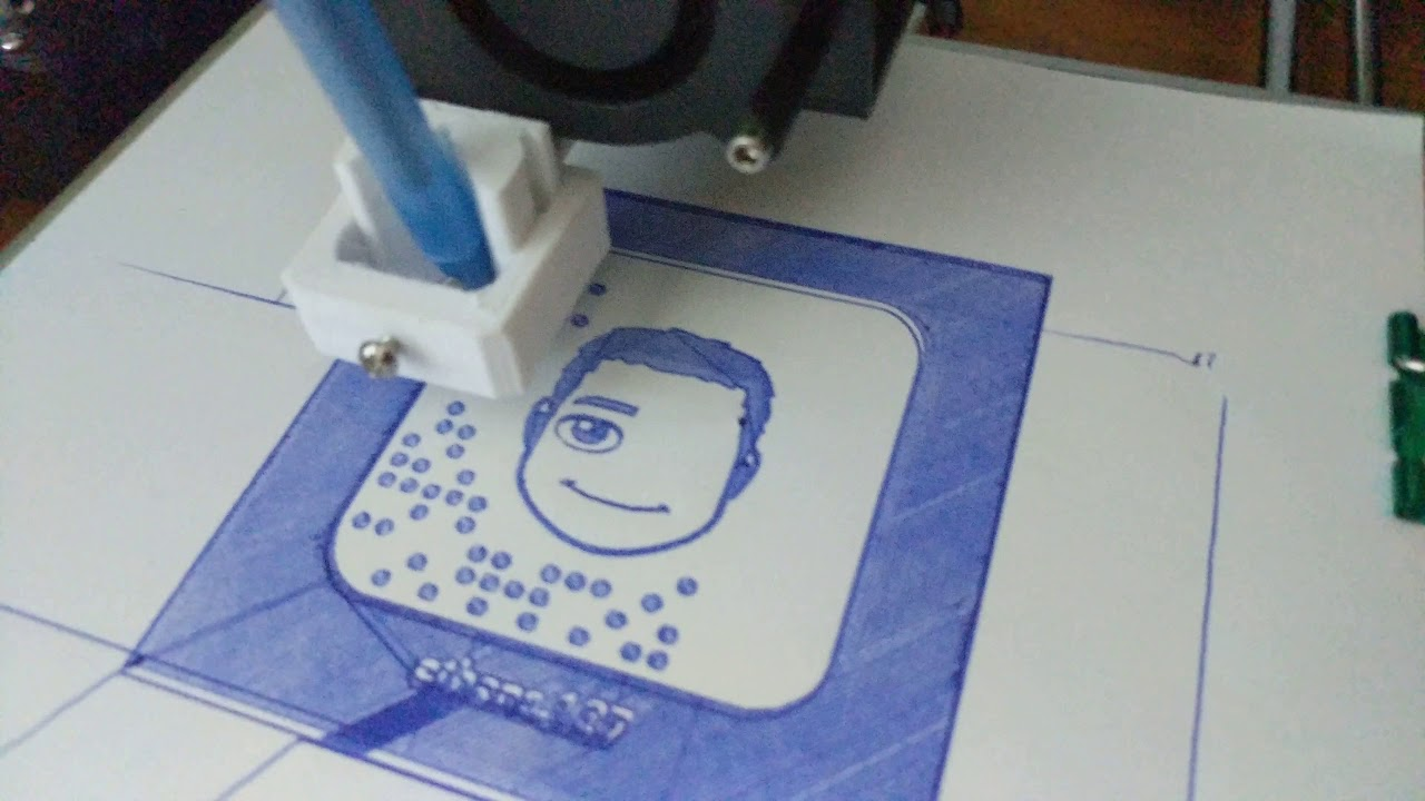 Anet a8 3d printer used as a cnc pen plotter