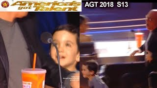 Simon Cowell's  son Eric Cowell SCARES Howie Mandel America's Got Talent 2018 Judge Cuts 1 AGT