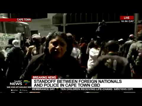 Police, foreign nationals standoff in Cape Town CBD | Vanessa Poonah reports