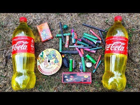 🔴EXPERIMENT: BIG FIRECRACKERS VS YELLOW Coca Cola🔴
