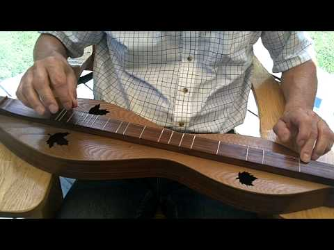 A bit of slow, beginner Mountain dulcimer