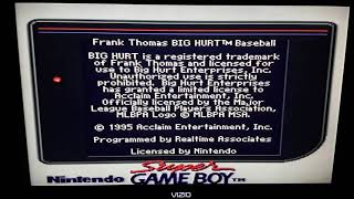 Frank Thomas Big Hurt Baseball For Super Game boy