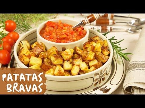 Patatas Bravas   Spanische Tapas mit Tomaten Dip