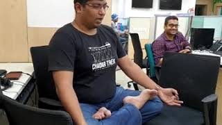 Yoga when ever whereever teaching a coworker in office