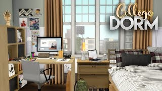 ART STUDENT'S DORM ROOM + CC LINKS | The Sims 4 Speed Build
