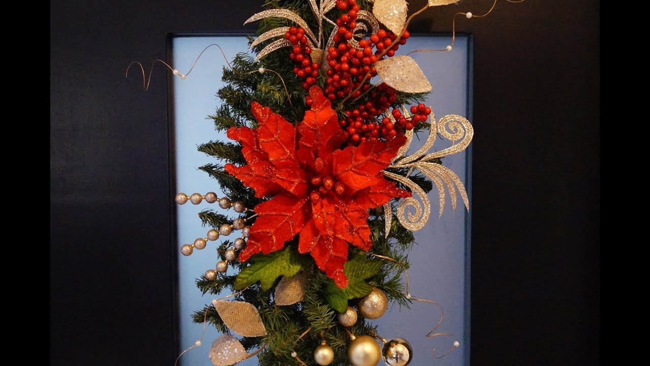 diy arreglo navide o para tu puerta en rojo doovi