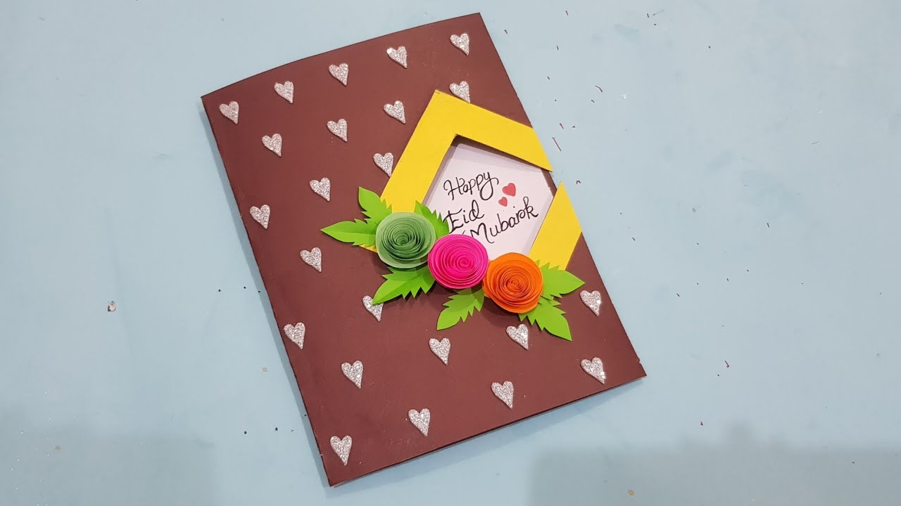eid special hand made card making idea simple  decent