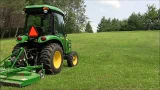 John Deere 3520 with rear finish mower