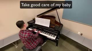 Take Good Care of My Baby w/ Lyrics - Piano Cover | Jason Sims