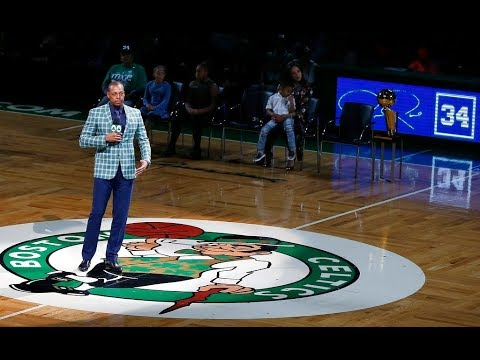 promo code db101 947e0 Paul Pierce enters jersey retirement ceremony as loving Boston Celtics fans  go wild