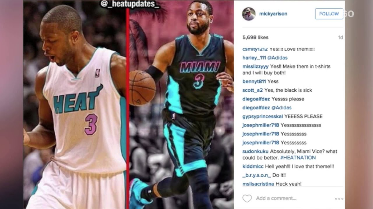 pretty nice 3dc05 fe7d4 Miami Heat jerseys could get 'Miami Vice' style re-vamp
