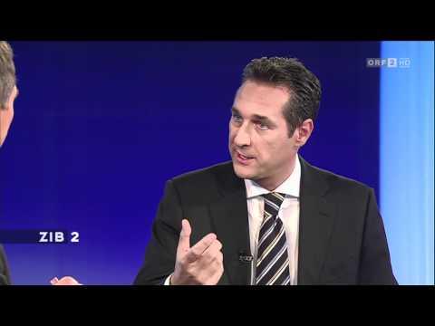 """Strache: """"Wie sind die neuen Juden"""" ZIB2 Interview mit Armin Wolf"""