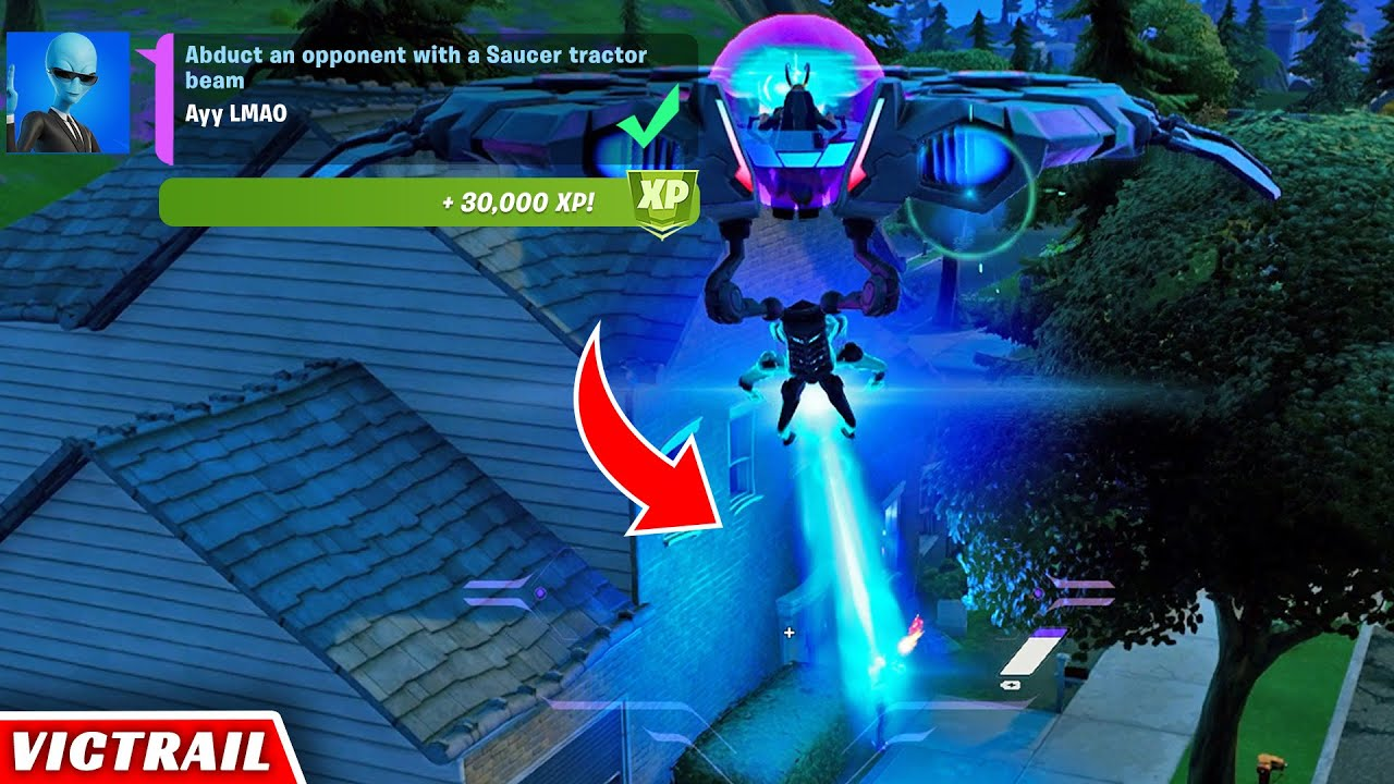 Download Abduct an Opponent with a Saucer Tractor Beam Easy Guide - Week 4 Epic XP Quest Fortnite