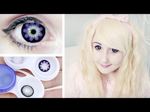 Корейские линзы, увеличивающие глаза 。◕‿◕。 Big eyes ♥ Circle lenses