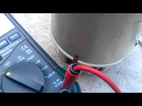 VFD module running motor in Hz
