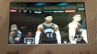 NBA 2k13 using Wii U Gamepad