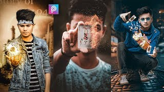 PicsArt Flying Fire Cards Photo Editing tutorial in picsart Step by Step in Hindi - Taukeer Editz