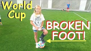 ⚽️Playing WORLD CUP with a BROKEN FOOT!👣 thumbnail
