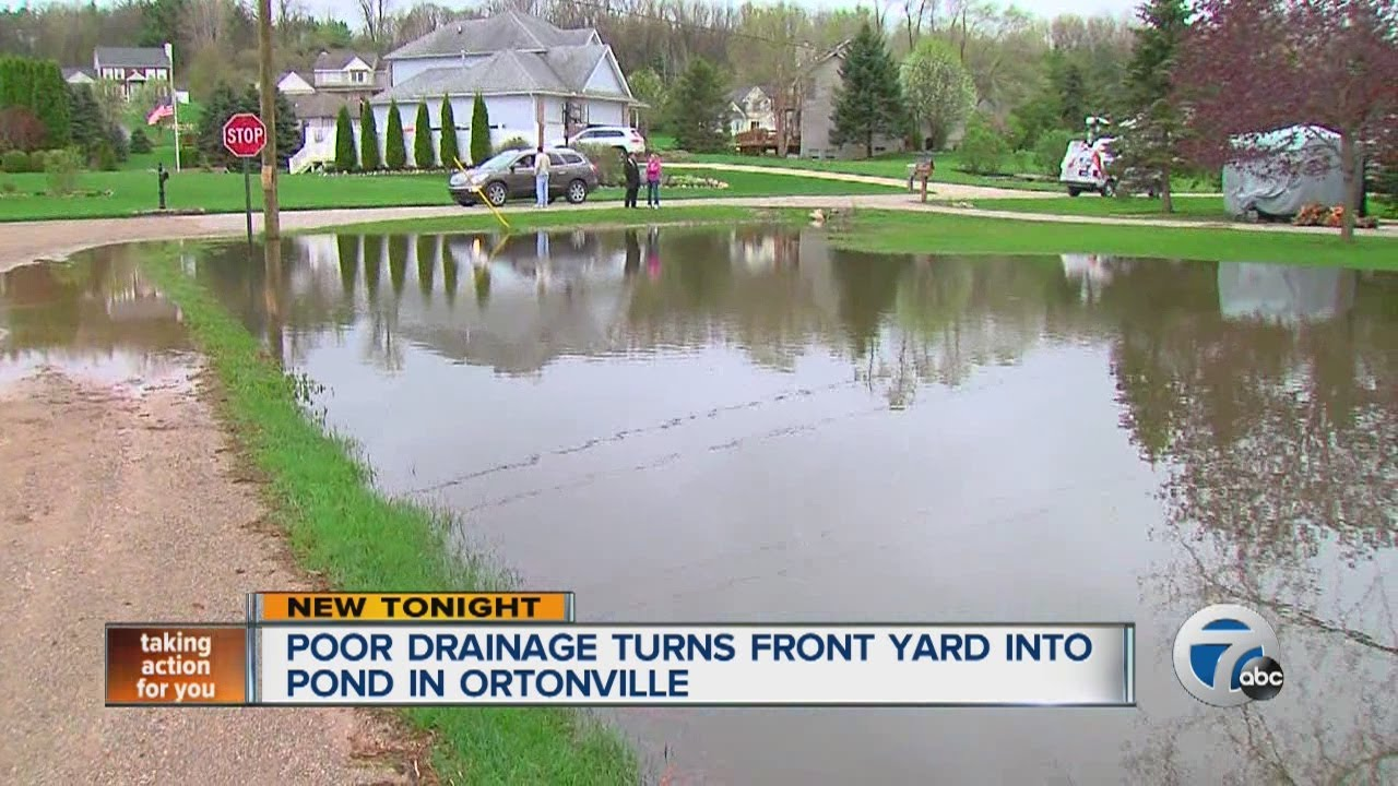 Poor drainage turns front yard into pond in Ortonville ... on Front Yard Pond  id=77901
