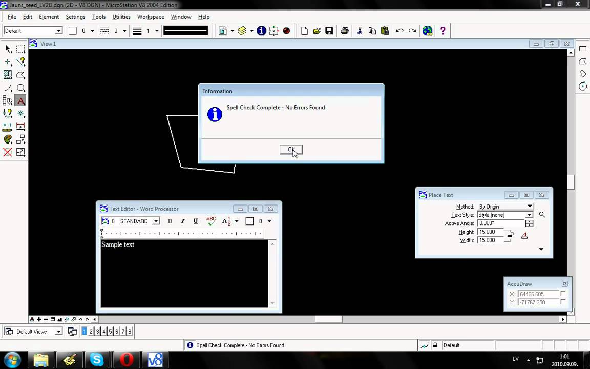 Small Introduction To Bentley Microstation V8 User