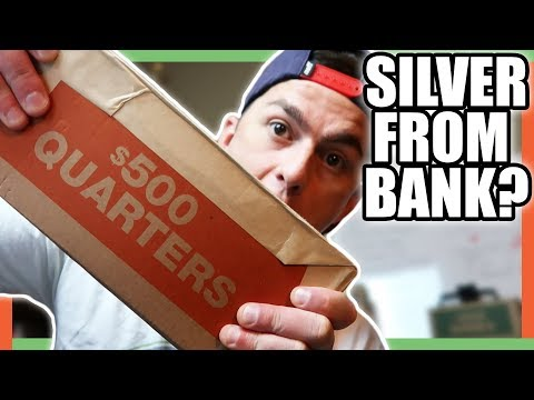 COIN ROLL HUNTING FOR SILVER QUARTERS WORTH MONEY!!
