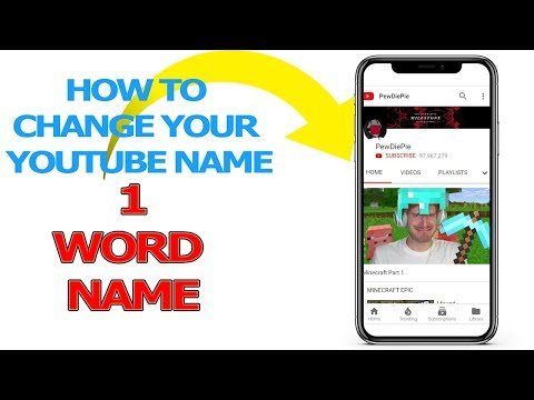 How To Change Youtube Name To 1 Word (On Mobile)