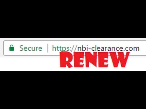 2017 Update: NBI CLEARANCE RENEWAL