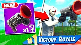 FORTNITE BATTLE ROYALE *NEW* GRAPPLER GUN GAMEPLAY! Patch v5.40 (Dusty Diner, Getaway LTM)