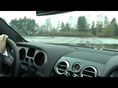 Onboard Bentley Continental Flying Spur Speed fastest limousine / world racing