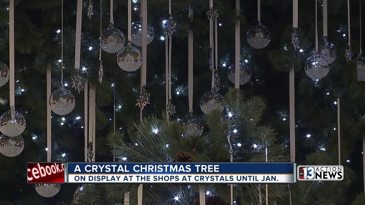 5,000 Swarovski crystal ornaments on Vegas Christmas tree   YouTube