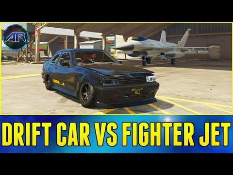 Gta Online Drift Car Vs Fighter Jet Youtube