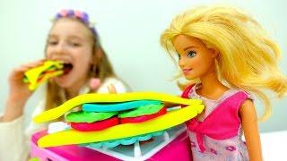 БАРБИ И КАТЯ НА ПИКНИКЕ! СЕНДВИЧИ из #PlayDoh Пластилин barbie #ИгрыДляДевочек #ДетскоеТворчество