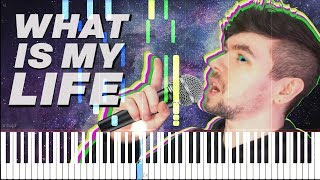 What Is My Life - Jacksepticeye Song by Schmoyoho [Synthesia Piano Tutorial]