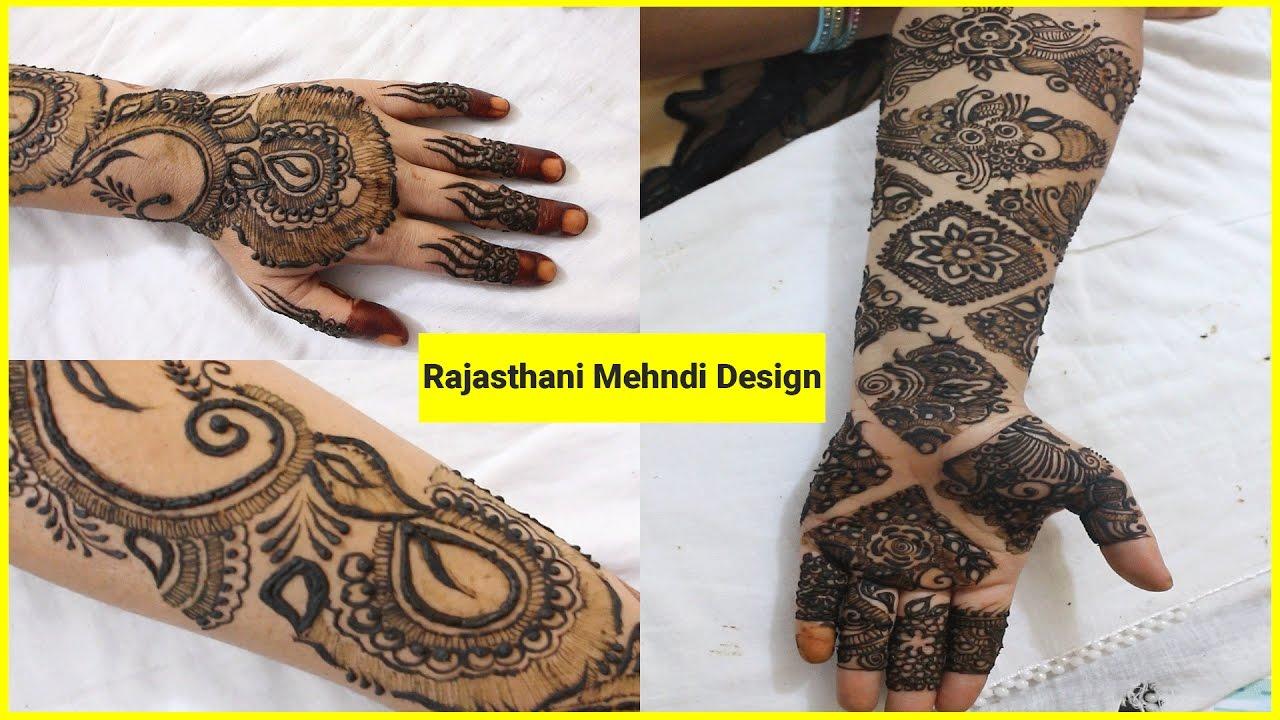 Rajasthani Bridal Mehndi Designs : Rajasthani bridal mehndi design tutorial viral lifestyle