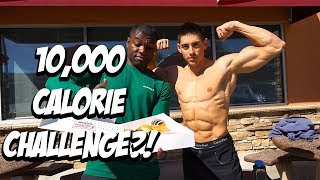 10,000 CALORIE CHALLENGE?! - Ft Chris Elkins Shredded BodyBuilder