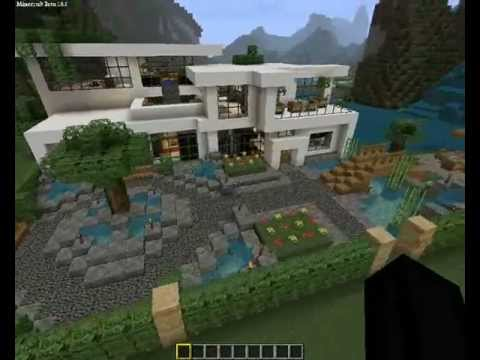 maison moderne minecraft youtube. Black Bedroom Furniture Sets. Home Design Ideas