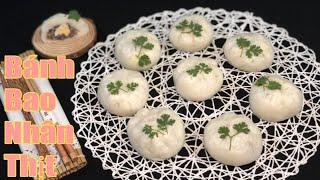 Bánh Bao Nhân Thịt Trứng Cút   mềm,xốp,thơm ngon như ngoài hàng    Nàng Bánh Channel
