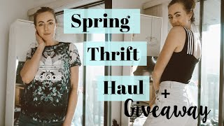 Spring Trends 2019 TRY-ON THRIFT HAUL + a GIVEAWAY!!