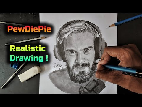 Most popular YouTube creator PewDiePie DRAWING - 동영상
