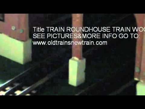 TRAIN ROUNDHOUSE TRAIN WOODEN ROUNDHOUSE O SCALE KIT
