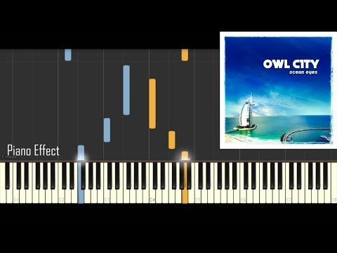 Owl City - Meteor Shower (Piano Tutorial Synthesia)